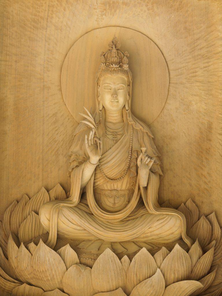 Kuan Yin on lotus